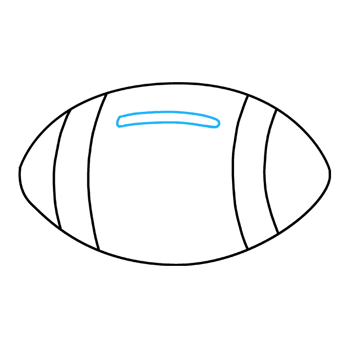 How to Draw Football: Step 5