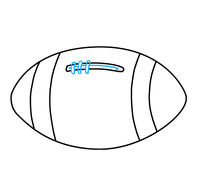 How to Draw Football: Step 6