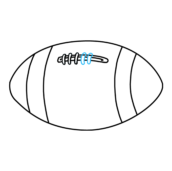 How to Draw Football: Step 7