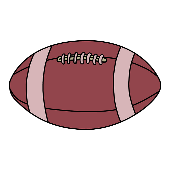 How to Draw Football: Step 10