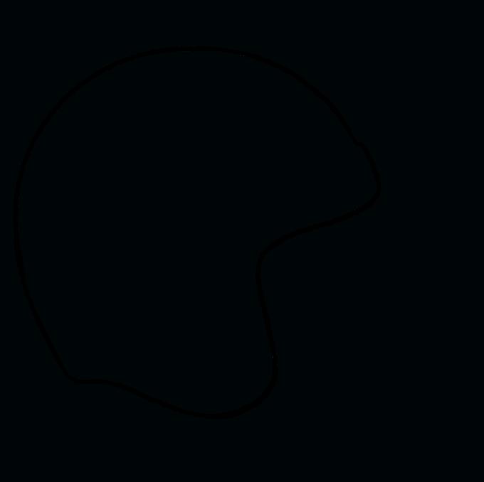 How to Draw Football Helmet Step 03