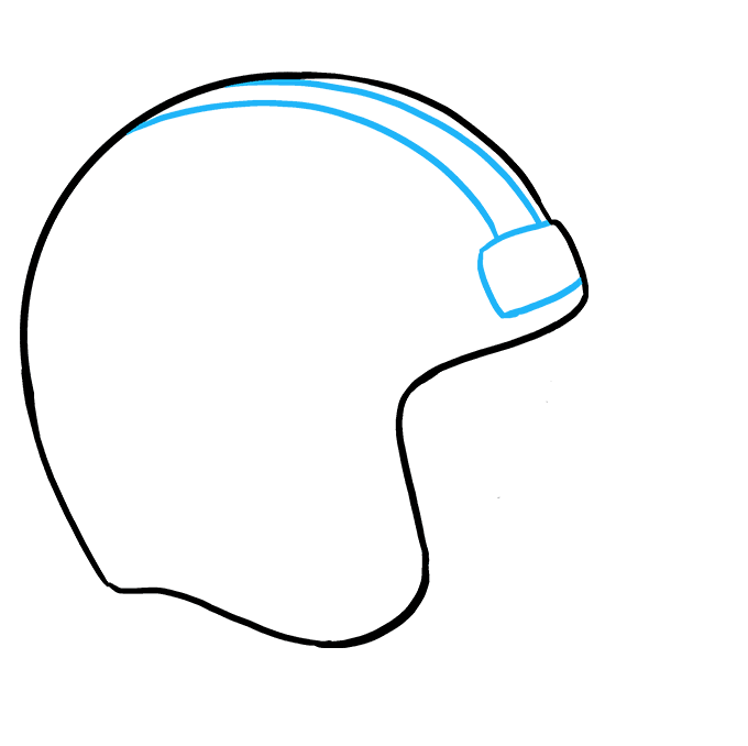 How to Draw Football helmet: Step 4