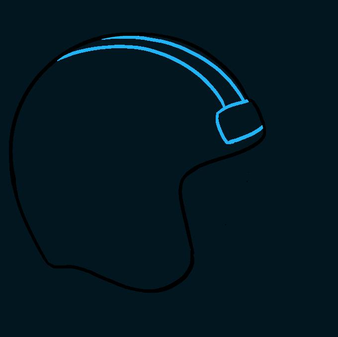 How to Draw Football Helmet Step 04