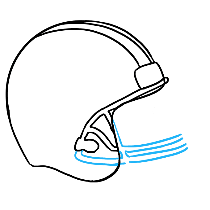 How to Draw Football helmet: Step 6