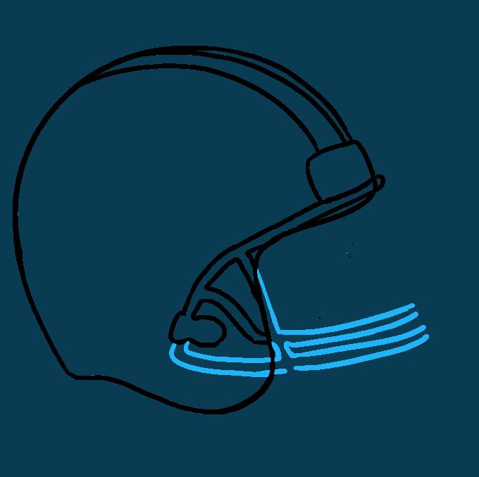 How to Draw Football Helmet Step 06