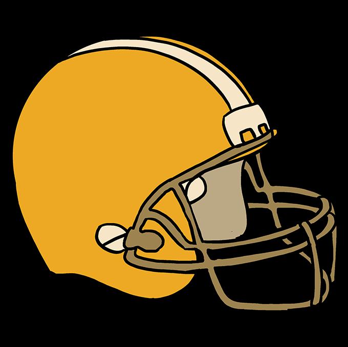 How to Draw Football Helmet Step 10