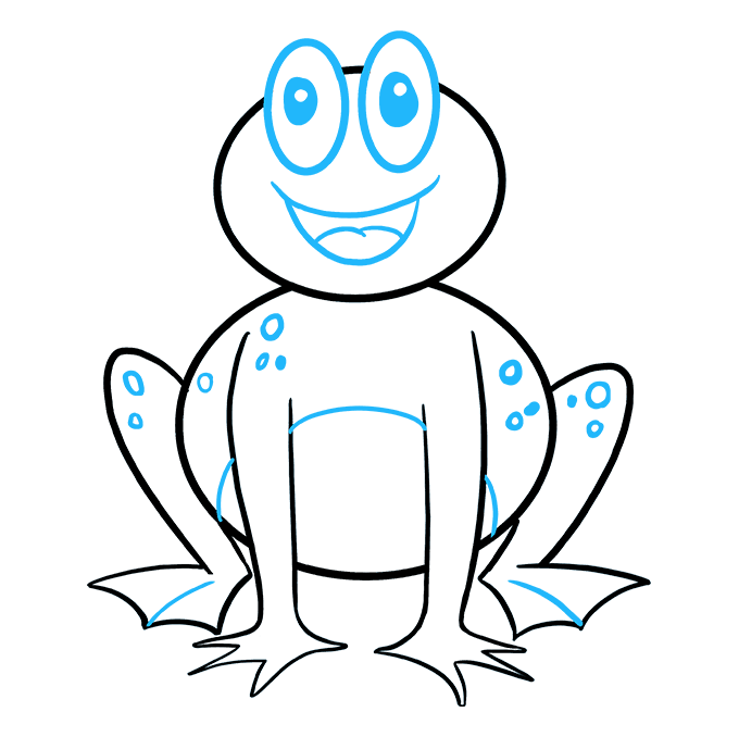 How to Draw Frog: Step 9