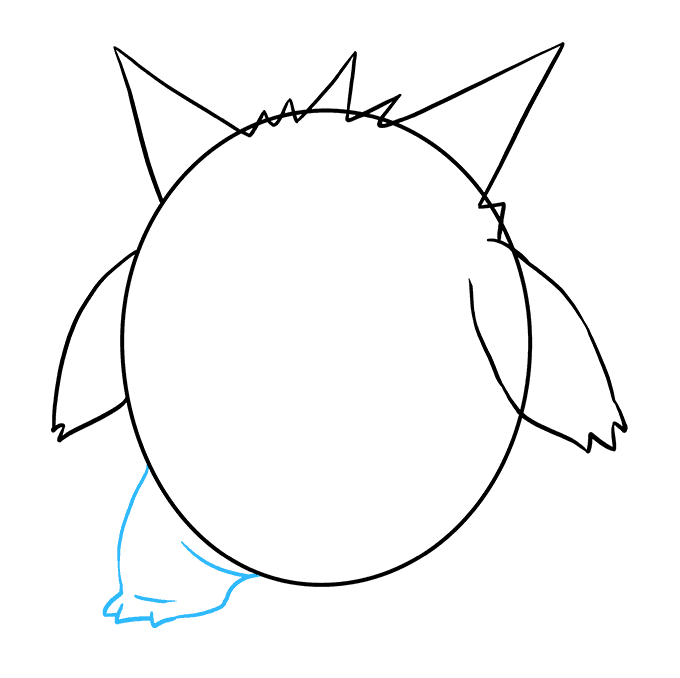 How to Draw Gengar: Step 5