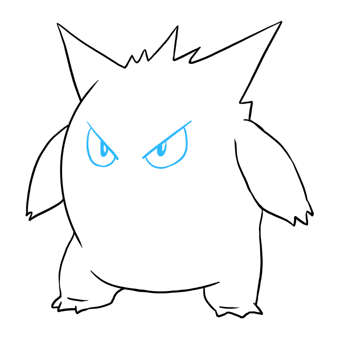 How to Draw Gengar: Step 8