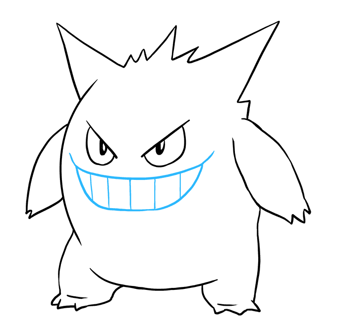 How to Draw Gengar: Step 9