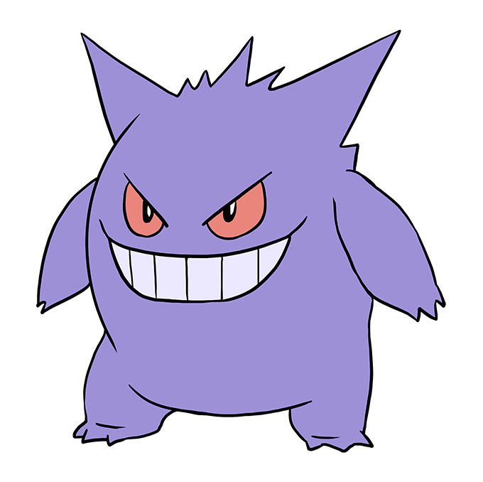 How to Draw Gengar: Step 10