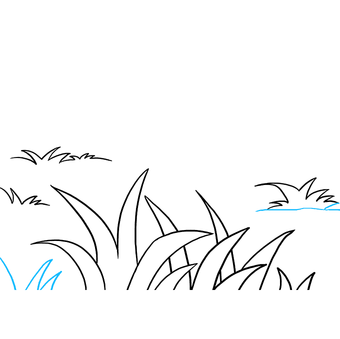 How to Draw Grass: Step 8