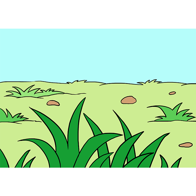 How to Draw Grass: Step 10