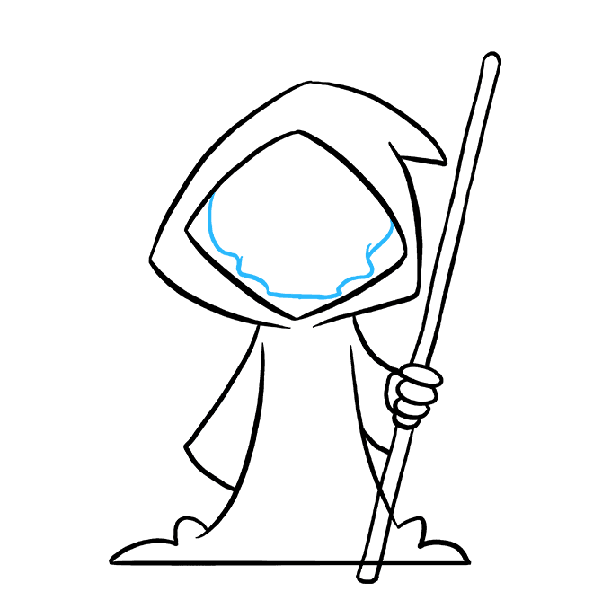 How to Draw Grim Reaper: Step 8