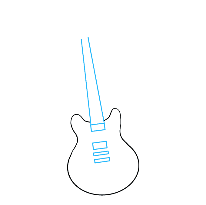 How to Draw Guitar: Step 5