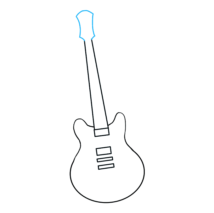 How to Draw Guitar: Step 6