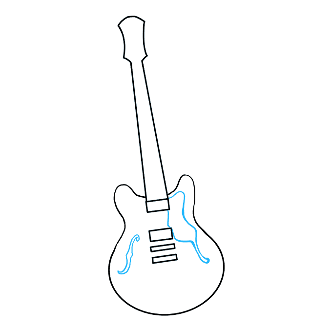 How To Draw A Guitar Really Easy Drawing Tutorial