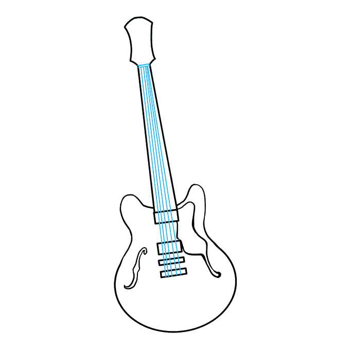 How to Draw Guitar: Step 8