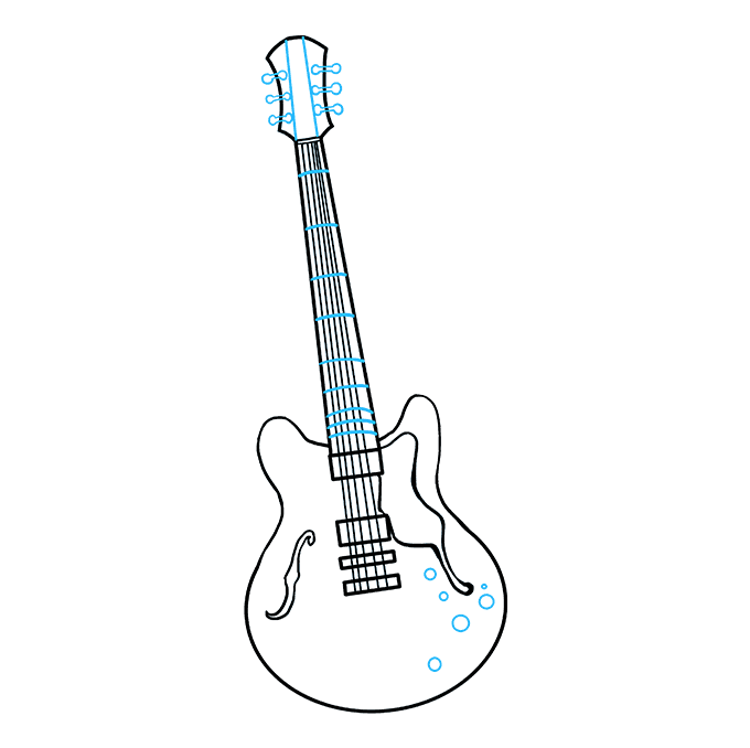 How to Draw Guitar: Step 9