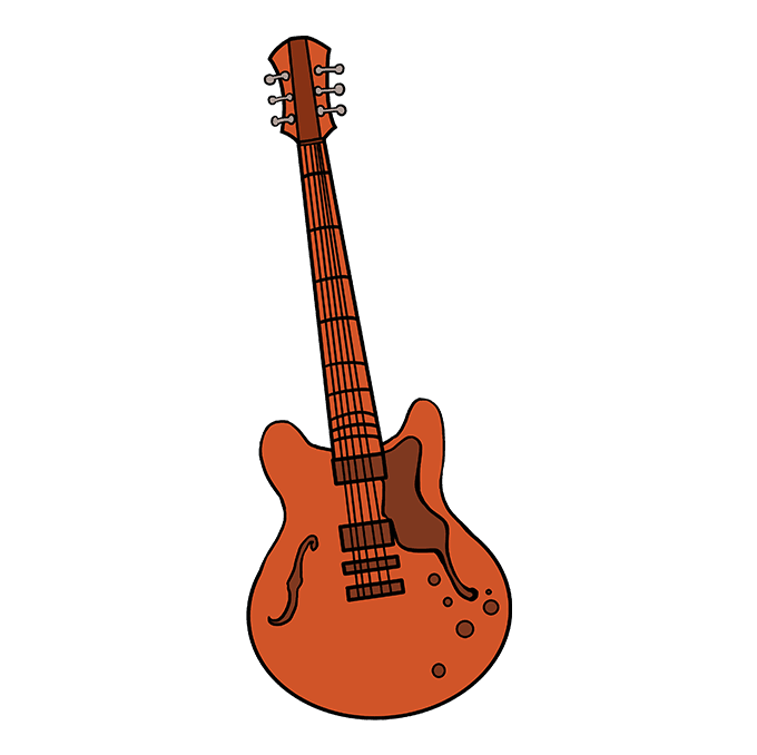 How to Draw Guitar: Step 10