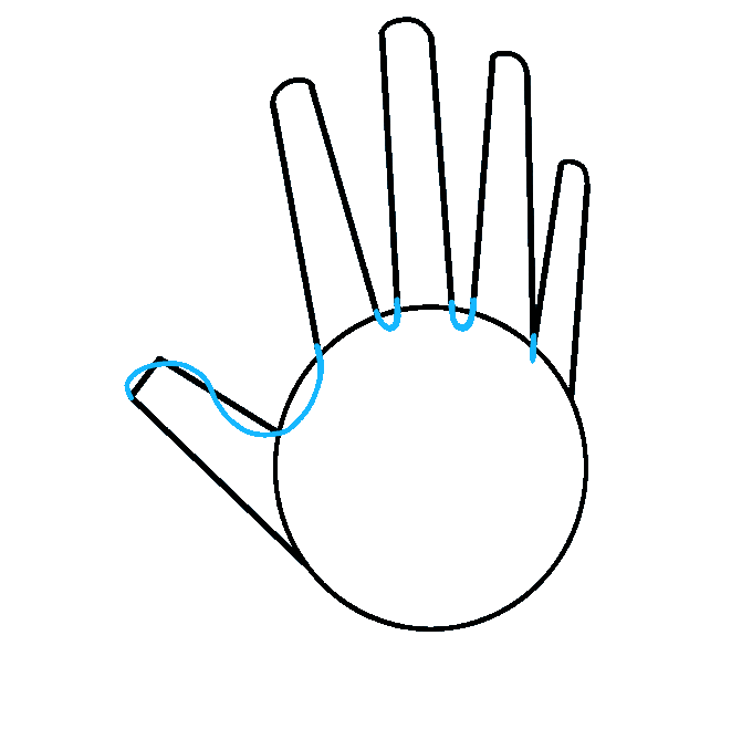 How to Draw Hand: Step 3