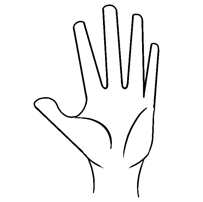 How to Draw Hand: Step 7