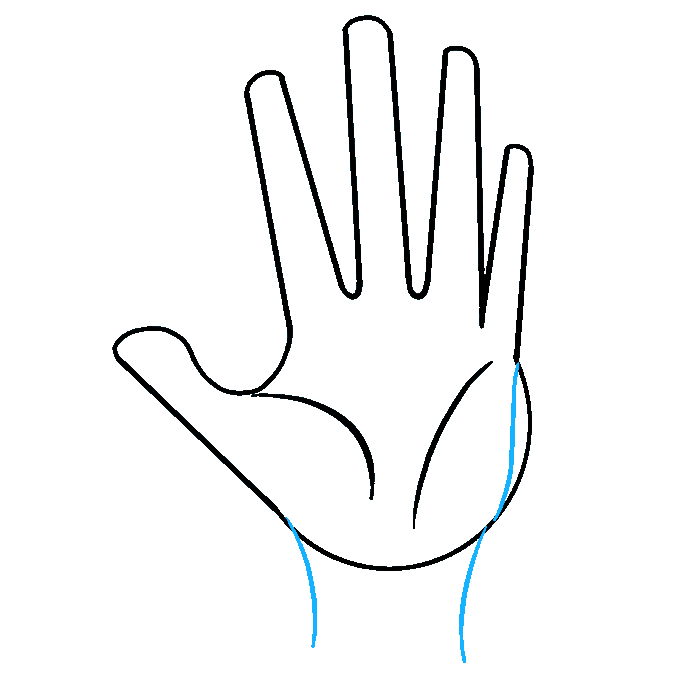 How to Draw Hand: Step 6