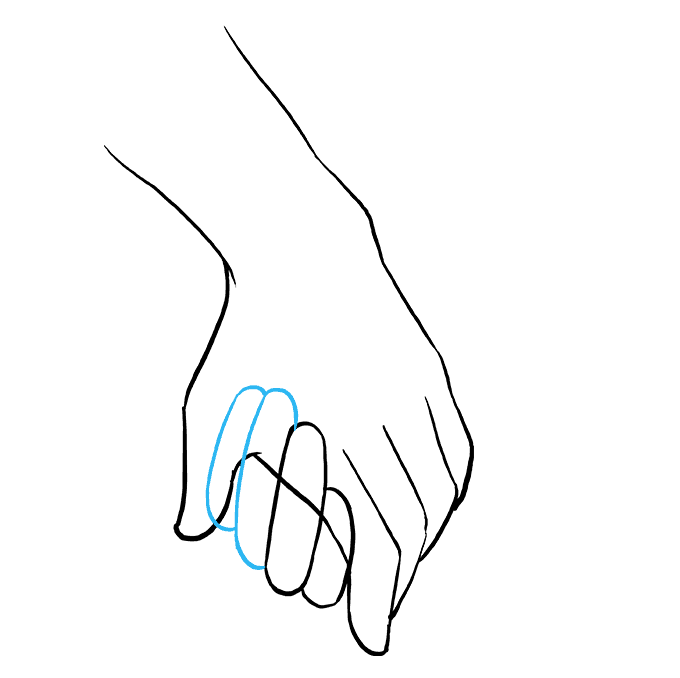 How to Draw Holding Hands: Step 6