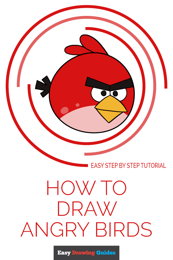 How to Draw Angry Birds | Share to Pinterest