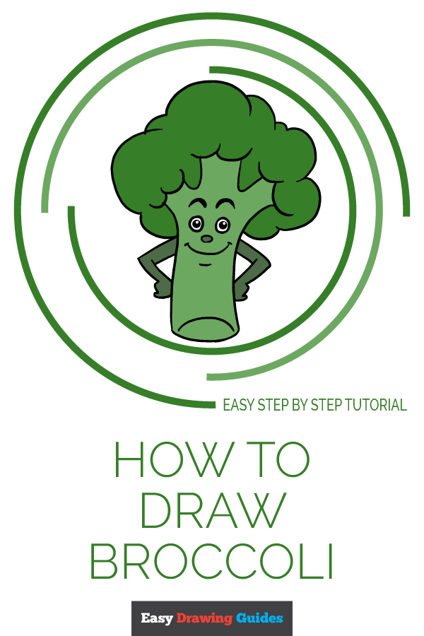 How to Draw Broccoli | Share to Pinterest