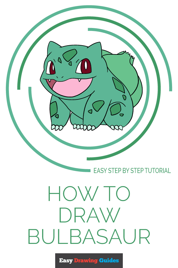 How to Draw Bulbasaur | Share to Pinterest
