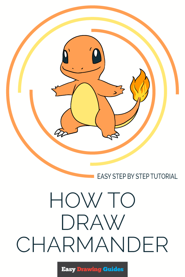 How to Draw Charmander | Share to Pinterest