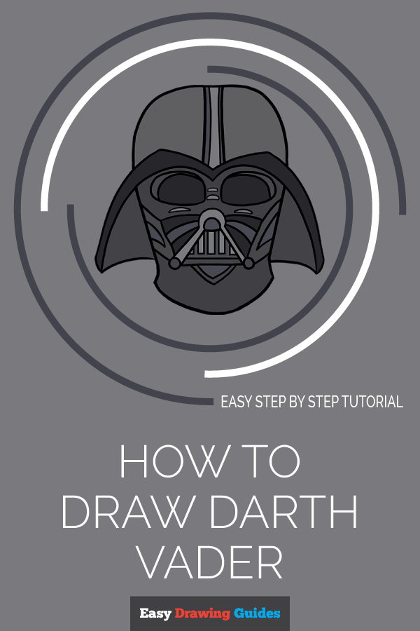 How to Draw Dart Vader | Share to Pinterest