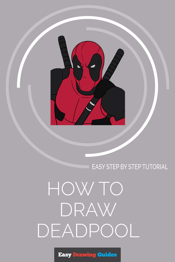 How to Draw Deadpool | Share to Pinterest