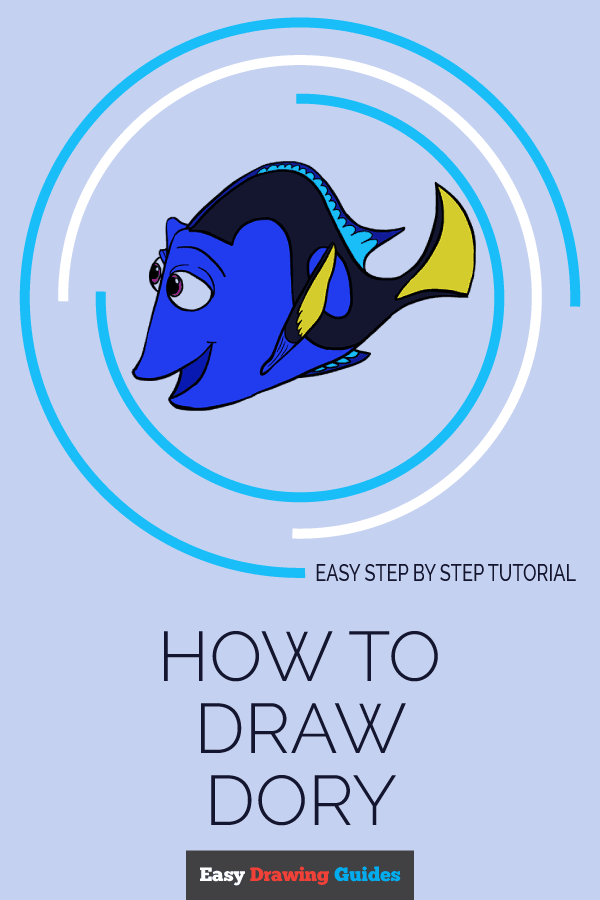How to Draw Dory | Share to Pinterest