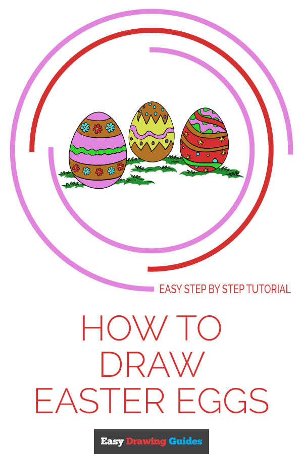 How to Draw Easter Eggs | Share to Pinterest