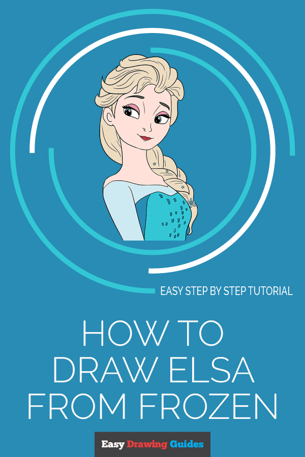 Elsa Pictures To Draw Step By Step