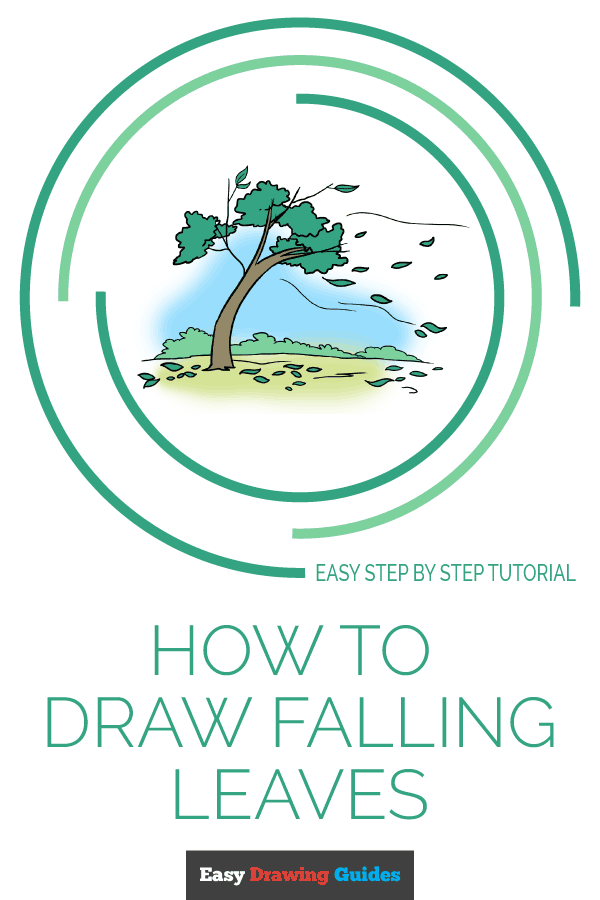 How to Draw Falling Leaves | Share to Pinterest