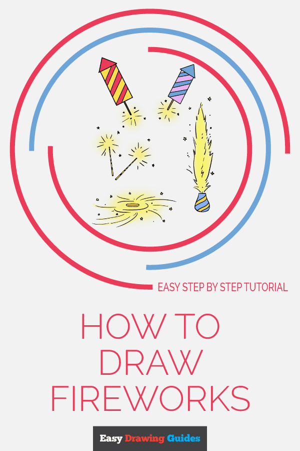 How to Draw Fireworks | Share to Pinterest