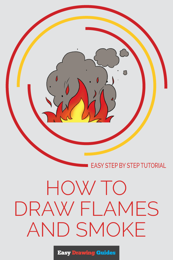 How to Draw Flames and Smoke | Share to Pinterest