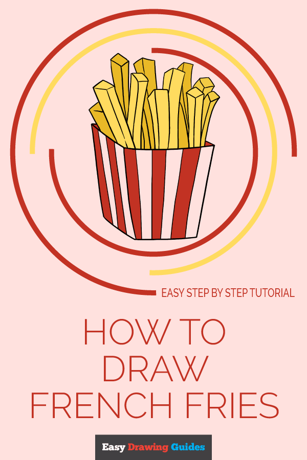 How to Draw French Fries | Share to Pinterest