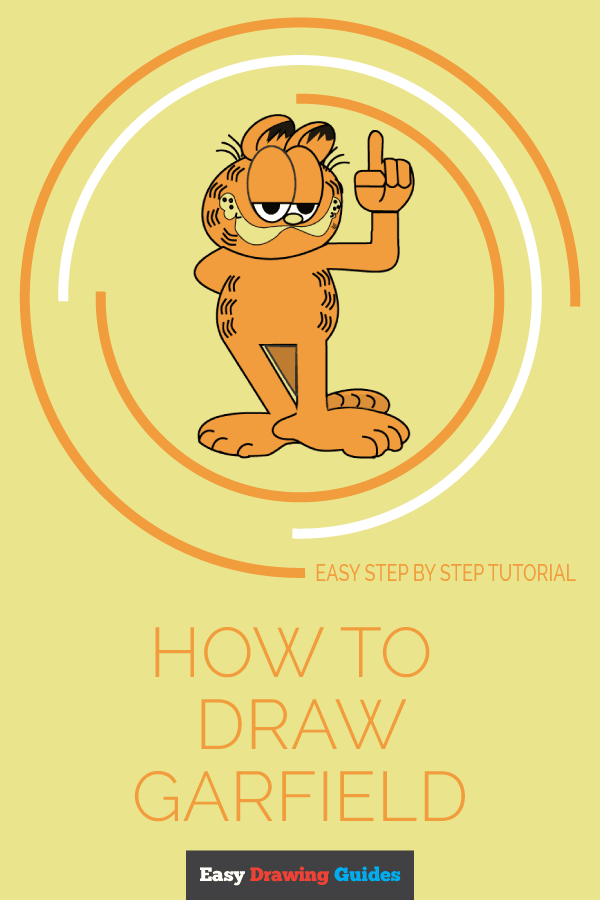 How to Draw Garfield | Share to Pinterest