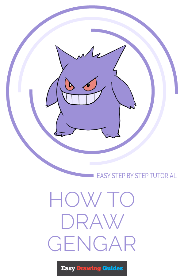How to Draw Gengar | Share to Pinterest