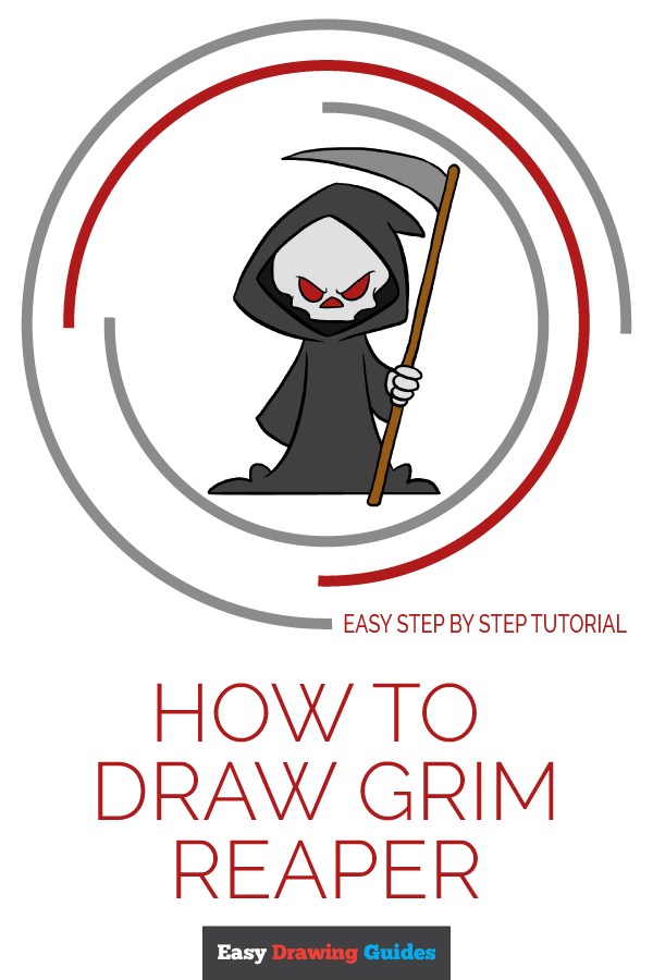 How to Draw Grim Reaper | Share to Pinterest