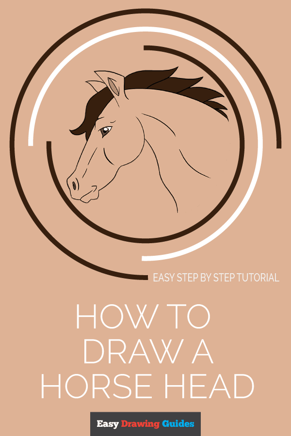 How to Draw a Horse Head | Share to Pinterest