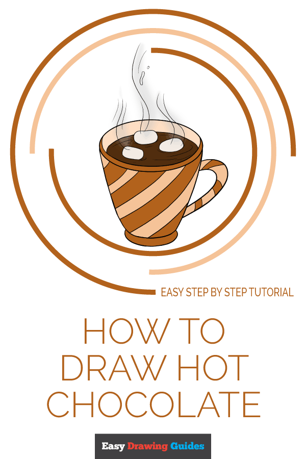How to Draw Hot Chocolate | Share to Pinterest