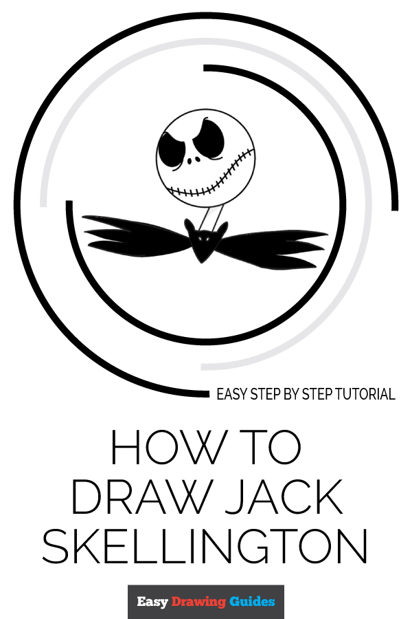 How to Draw Jack Skellington | Share to Pinterest