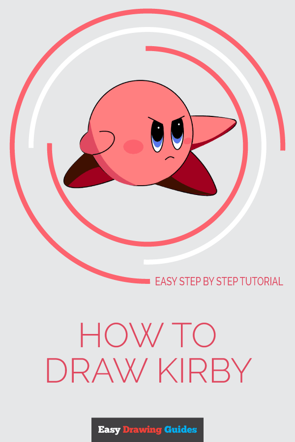 How to Draw Kirby | Share to Pinterest