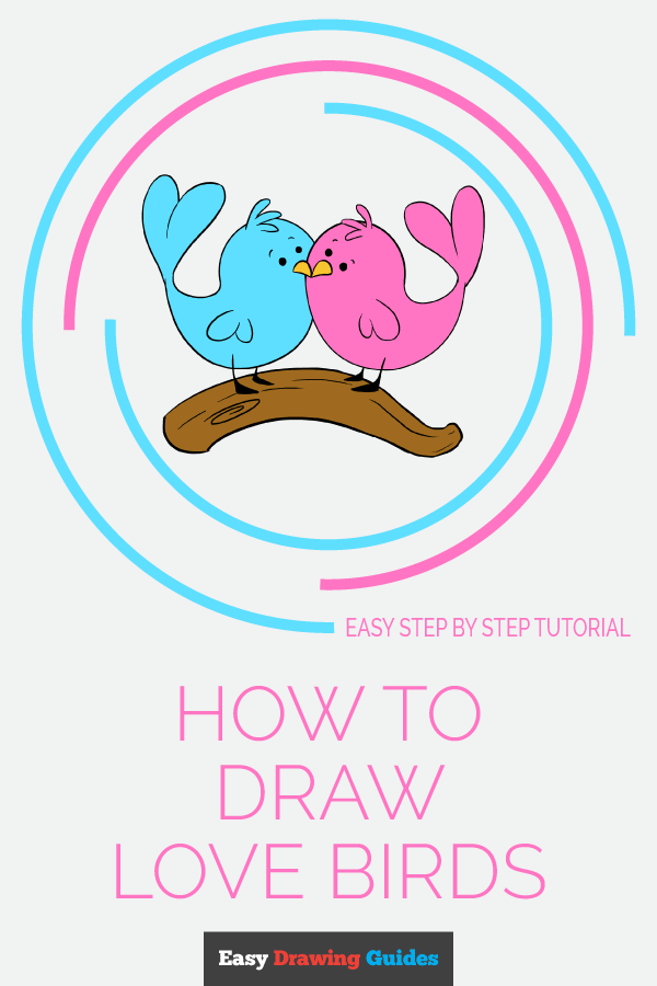 How to Draw Love Birds | Share to Pinterest