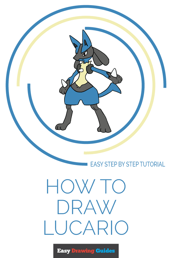 How to Draw Lucario | Share to Pinterest
